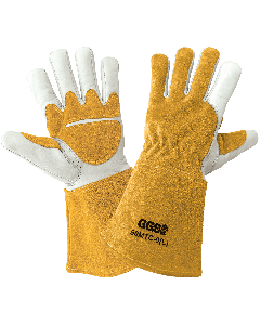Premium Cowhide Welding Gloves with Fleece Lining - 50MTC