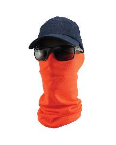 FrogWear™ HV Multi-Function Neck Gaiter, High-Visibility Orange - NG-200