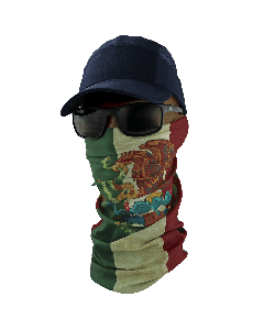 FrogWear™ Multi-Function Neck Gaiter, Mexican Flag Design - NG-202