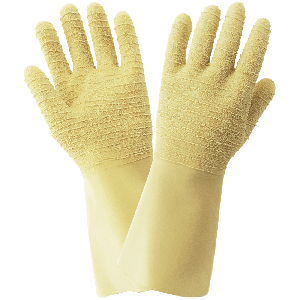 FrogWear® Wrinkle Patterned 22-Mil Unlined Natural Rubber Latex Unsupported Gloves - 190ETC