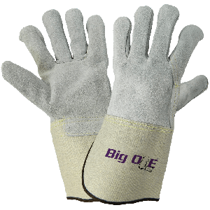 Big Ole® Side Select Cowhide Leather Palm Gloves with Full Leather Back - 2100FGC