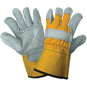 Premium Cowhide Leather Double Palm and Washable Duck Safety Cuff Gloves - 2190DP