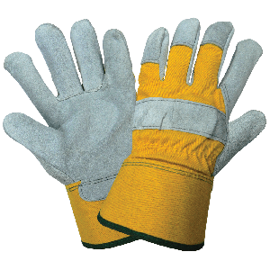 Premium Cowhide Leather Palm and Duck Safety Cuff Gloves - 2190