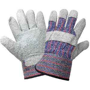 Economy Gunn Cut Pattern Split Cowhide Leather Palm Gloves - 2300