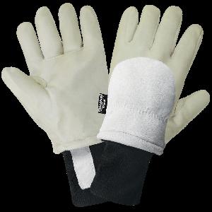 Premium Goatskin Leather Latex-Coated Insulated Freezer Gloves - 2800GLP