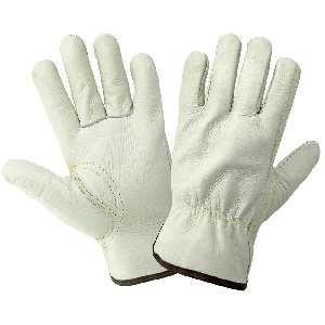 Standard-Grade Grain Cowhide Beige Drivers Gloves - 3200B