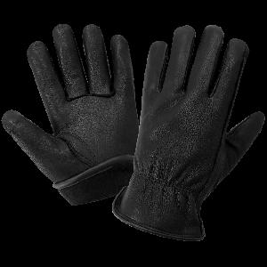 Premium Black Deerskin Leather Insulated Gloves - 3200DTHB