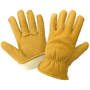 Premium-Grade Grain Deerskin Insulated Gloves - 3200DTH