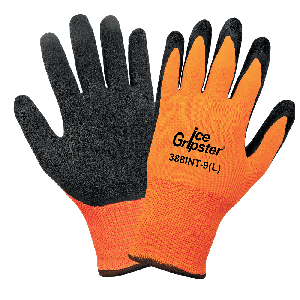 Ice Gripster® Water Repellent Seamless Etched Rubber Coated Palm Low Temperature Gloves - 388INT