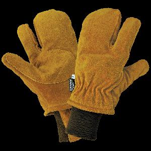 Premium Cowhide Split Finger Insulated Freezer Mitten - 591F