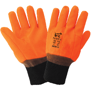 FrogWear® Cold Protection High-Visibility Insulated Double-Coated with PVC Chemical Handling Gloves - 880KW