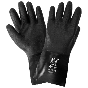 FrogWear® Premium Neoprene Rough Etched Finish 12-Inch Chemical Handling Gloves - 9912R