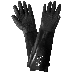 FrogWear® Premium Neoprene Rough Etched Finish 18-Inch Chemical Handling Gloves - 9918R