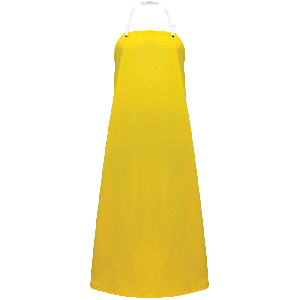 Industrial Yellow PVC/Polyester Apron - A355Y