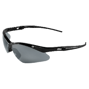 Spearfish® Silver Mirror Lens, Shiny Black Frame Safety Glasses - BH2257E
