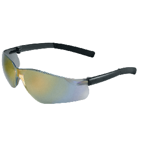 Pavon® Rainbow Mirror Lens, Frosted Black Frame Safety Glasses - BH5410