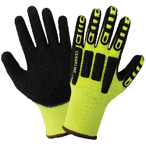 Vise Gripster® C.I.A. High-Visibility Mach Finish Nitrile Impact Protective Gloves - CIA501MF