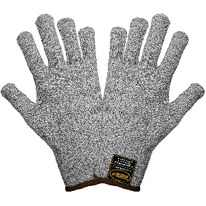Samurai Glove® Seamless Salt-and-Pepper TuffKut® FDA Compliant Cut Resistant Uncoated Gloves - CR411G