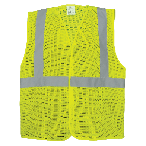 FrogWear® HV High-Visibility Lightweight Mesh Polyester Safety Vest - GLO-001VE
