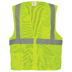 FrogWear® HV High-Visibility Lightweight Mesh Polyester Safety Vest - GLO-001