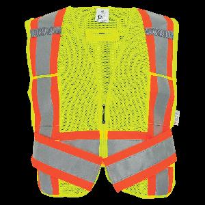 FrogWear® HV High-Visibility Mesh Polyester Adjustable Vest - GLO-002ADJ