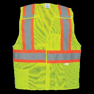 FrogWear® HV High-Visibility Polyester Breakaway Safety Vest - GLO-002BA