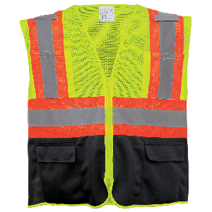 FrogWear® HV Mesh Polyester Surveyors Safety Vest - GLO-0036