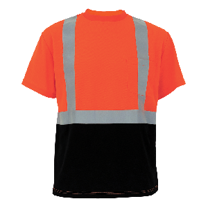 FrogWear® HV Self Wicking Polyester Short-Sleeved Shirt - GLO-005B