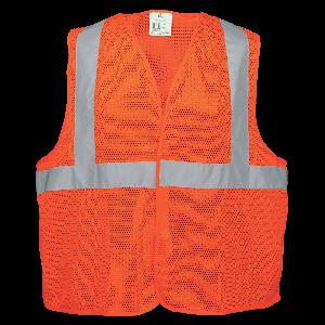 FrogWear® HV Lightweight Orange Mesh Polyester Safety Vest - GLO-006V