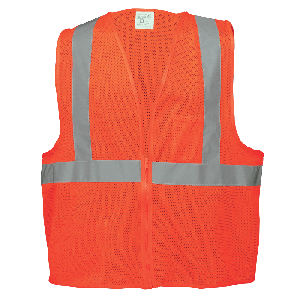 FrogWear® HV Lightweight Mesh Polyester Safety Vest - GLO-006