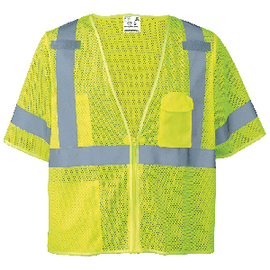 FrogWear® HV Self-Extinguishing High-Visibility Short-Sleeved Vest - GLO-011FR