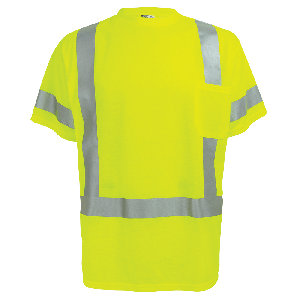 FrogWear® HV Self-Wicking High-Visibility Yellow/Green Short-Sleeved Shirt with Reflective - GLO-018