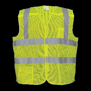 FrogWear® HV Yellow/Green Lightweight Mesh Polyester Breakaway Vest - GLO-01BA