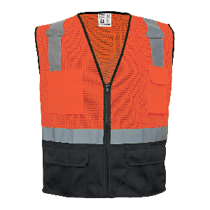 FrogWear® HV Orange Lightweight Mesh Polyester Safety Vest - GLO-049