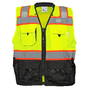 FrogWear® HV Premium High-Visibility Surveyors Safety Vest - GLO-099