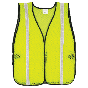 FrogWear® HV High-Visibility Yellow/Green Economy Mesh Safety Vest with Reflective - GLO-10-G-1IN