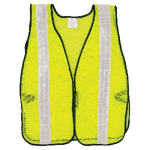 FrogWear® HV High-Visibility Yellow/Green Economy Mesh Safety Vest with Wide Reflective - GLO-10-G-2IN