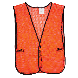 FrogWear® HV High-Visibility Orange Economy Mesh Safety Vest - GLO-10-O