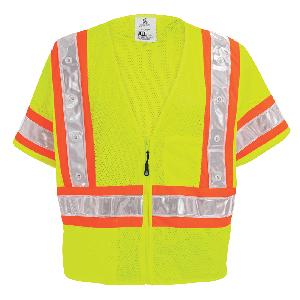 FrogWear® HV Lightweight Mesh Safety LED Vest - GLO-12LED