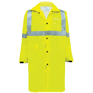 FrogWear® HV High-Visibility Self-Extinguishing Yellow/Green Duster Jacket - GLO-1450