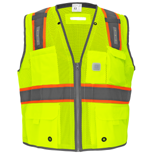 FrogWear® HV Premium Surveyors LED Safety Vest - GLO-15LED