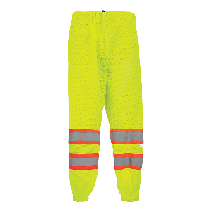 FrogWear® HV High-Visibility Yellow/Green Mesh Safety Pants - GLO-2P
