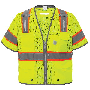 FrogWear® HV Premium Surveyors LED Safety Vest with Sleeves - GLO-315LED