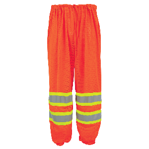 FrogWear® HV High-Visibility Orange Mesh Safety Pants - GLO-4P