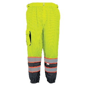 FrogWear® HV Premium Lightweight Breathable Yellow/Green Safety Pants - GLO-88P