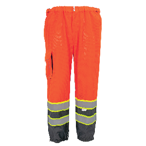 FrogWear® HV Premium Lightweight Breathable Orange Safety Pants - GLO-99P