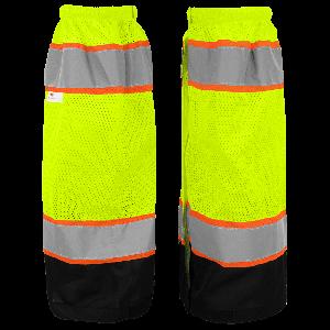 FrogWear® HV High-Visibility Mesh Polyester Gaiters - GLO-G1