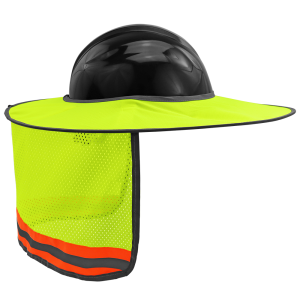 FrogWear® HV High-Visibility Removable Hard Hat Sun Shade - GLO-HNS1