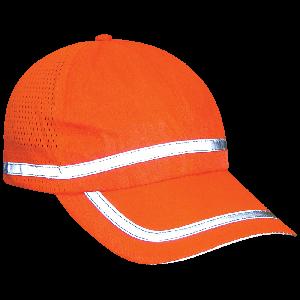FrogWear® HV High-Visibility Orange Baseball Cap Style Hat - GLO-R1