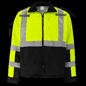 FrogWear® HV Premium Fleece Lined Softshell Jacket - GLO-SJ1